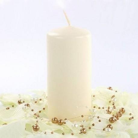 Bougie ivoire cylindrique 12cm