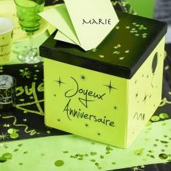 Urne anniversaire vert