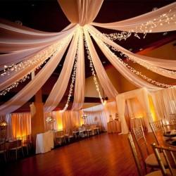 Tenture blanche pas cher pour mariage