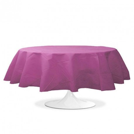 nappe ronde mariage prune