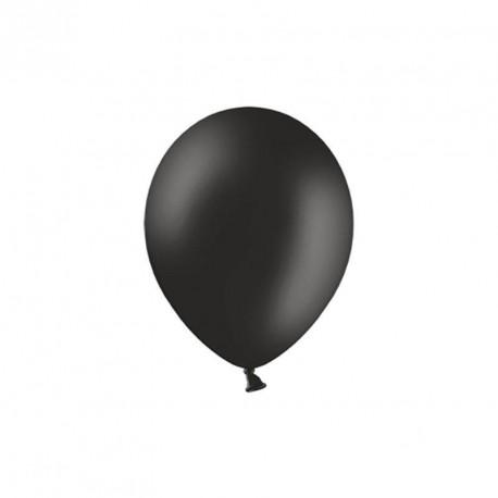 100 petits ballons noir 12 cm