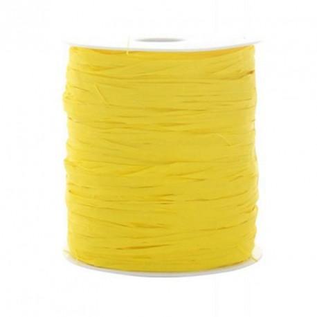 Ruban raphia jaune x 25 mètres