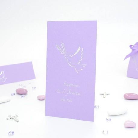 Image pour communion lilas et argent