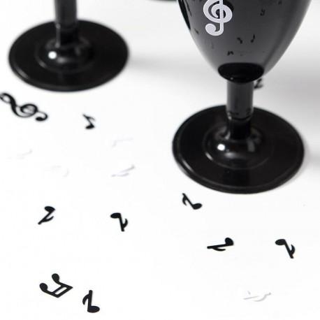 Confetti musique noir