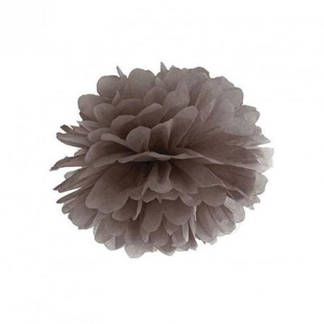 Pompon chocolat 25 cm