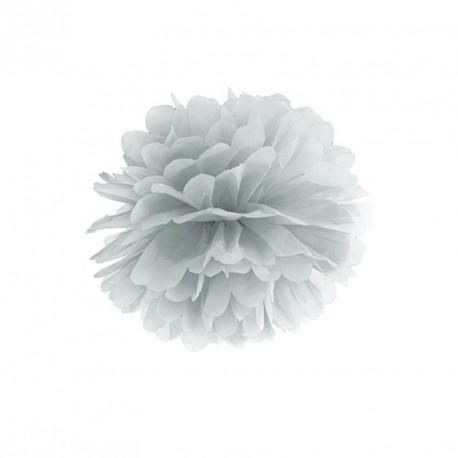 Pompon argent 25 cm