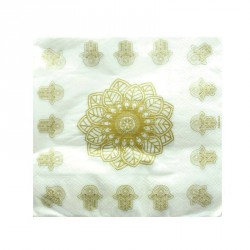 20 serviettes de table Oriental Or