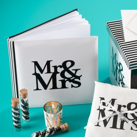Livre d'or blanc thème Mr & Mrs