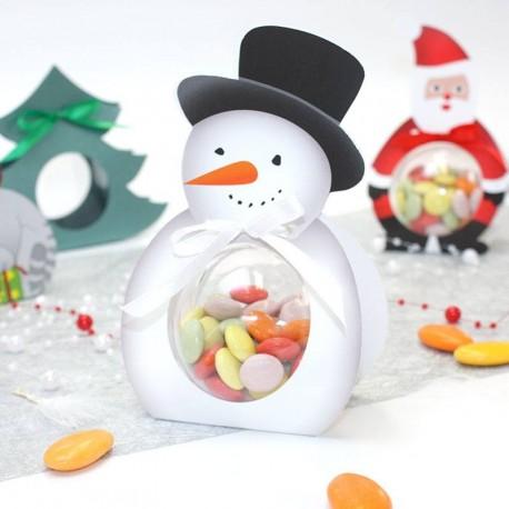 Ballotin bonhomme de neige + boule de 6cm