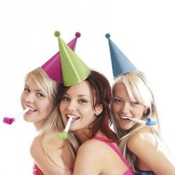 6 chapeaux cônes anniversaire et fête de fin d'année