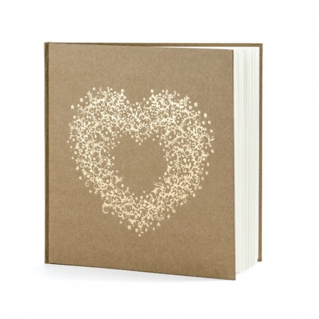 Livre d'or cœur doré