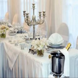 Jupe de table satin blanc 400 X 75 cm