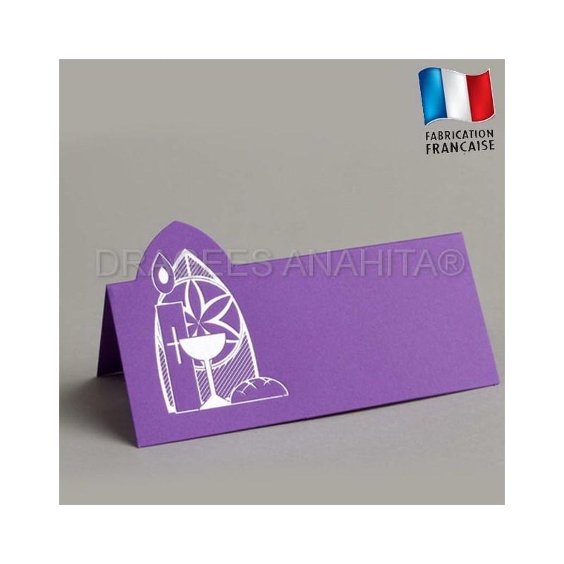 marque place communion couleur violet marque place communion. Black Bedroom Furniture Sets. Home Design Ideas