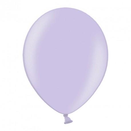 10 ballons 27 cm métallisés lilas