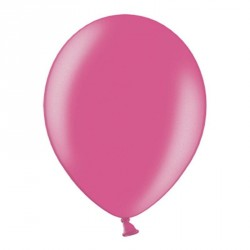 10 ballons fuchsia métalisés