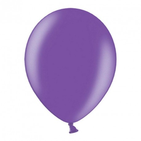 10 ballons 27 cm métallisés violet