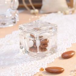 Cube à dragées en verre