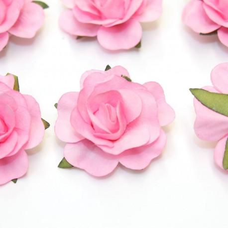 12 Roses autocollantes rose