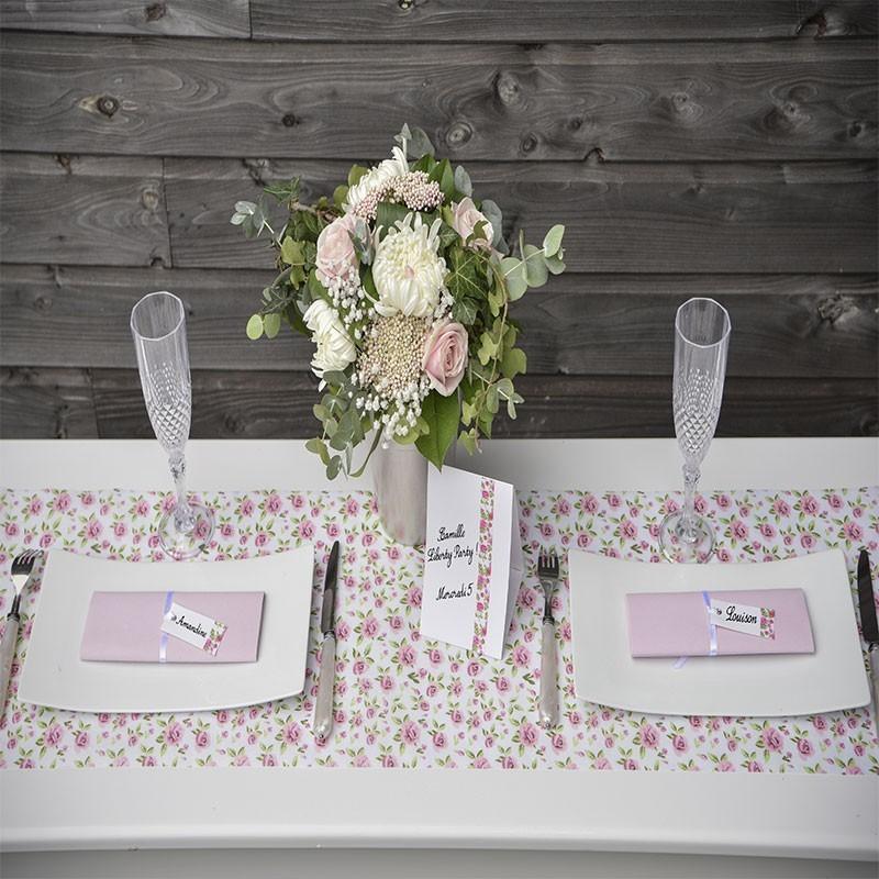 le chemin de table liberty pour vos tables de mariage drag es anahita. Black Bedroom Furniture Sets. Home Design Ideas