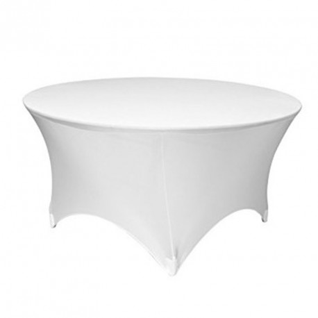 Nappe Ronde blanche Lycra Spandex extensible