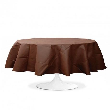 Nappe ronde mariage Chocolat