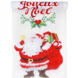 Chemin de table Père Noël pour un joyeux Noël