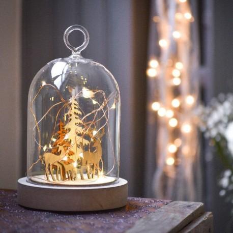 Cloche lumineuse pour décoration de Noël