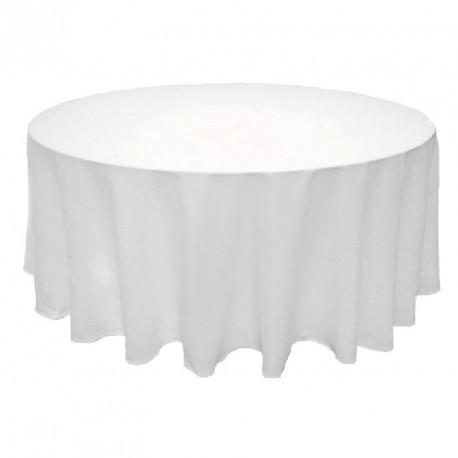 nappe ronde blanche en tissu pour mariage et f tes. Black Bedroom Furniture Sets. Home Design Ideas