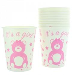 10 gobelets Baby Shower et naissance Fille