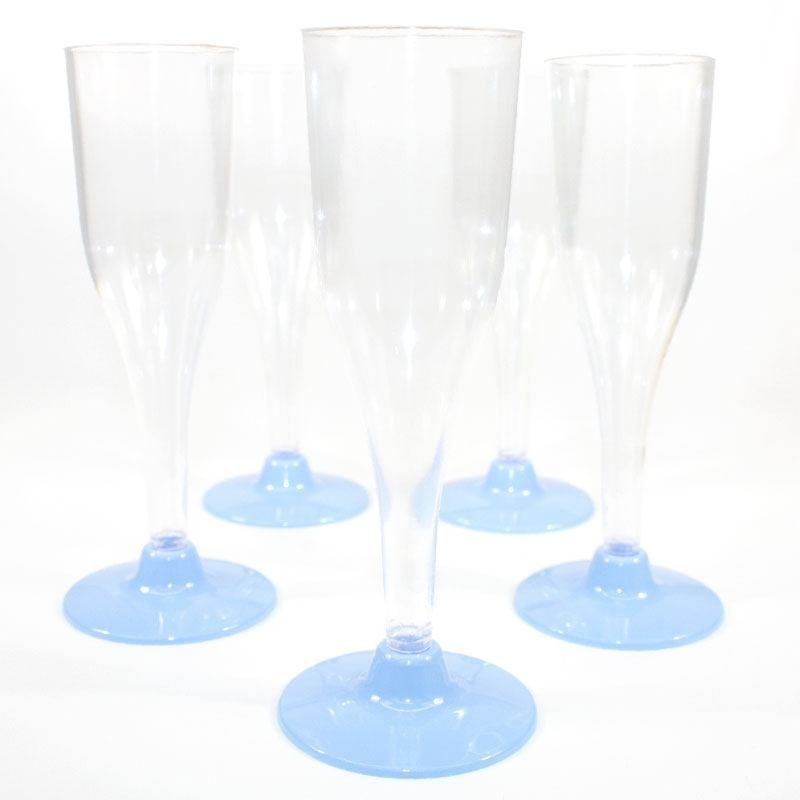 fl te champagne bleu ciel en plastique jetable drag es anahita. Black Bedroom Furniture Sets. Home Design Ideas