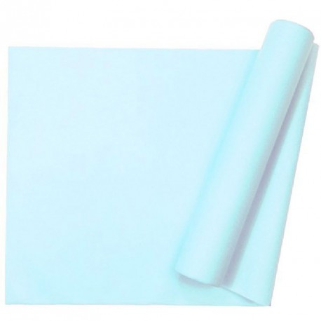 Chemin de table uni bleu ciel