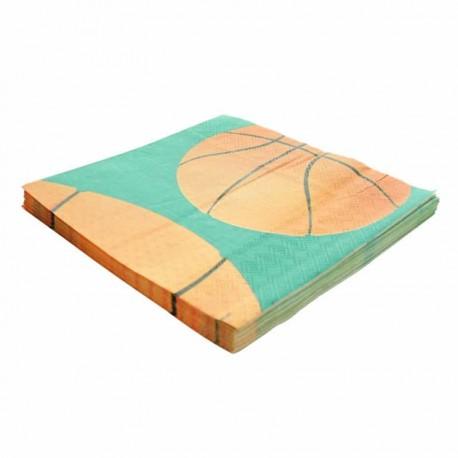 "20 Serviettes en papier ""Basketball"""