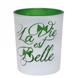 """Photophore """"La vie est belle"""" pour illuminer vos fêtes"""