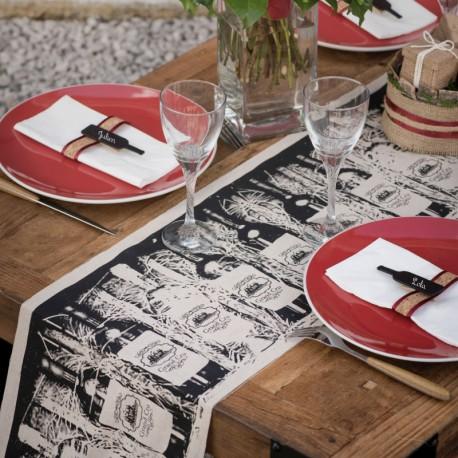 """Chemin de table viticole """"Grand Cru"""" de finition exceptionnelle"""