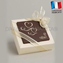 Contenant à dragées thème ivoire chocolat contenant à dragées mariage