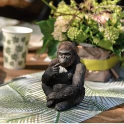 Maman Gorille en céramique. Elément idéal pour tenir le chemin de table associé