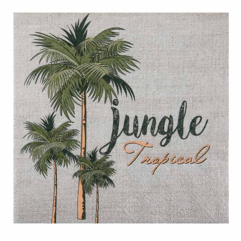20 serviettes th me jungle originales drag es anahita. Black Bedroom Furniture Sets. Home Design Ideas