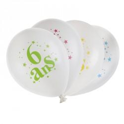 8 ballons Anniversaire 6 ans pour une fête d'anniversaire inoubliable.