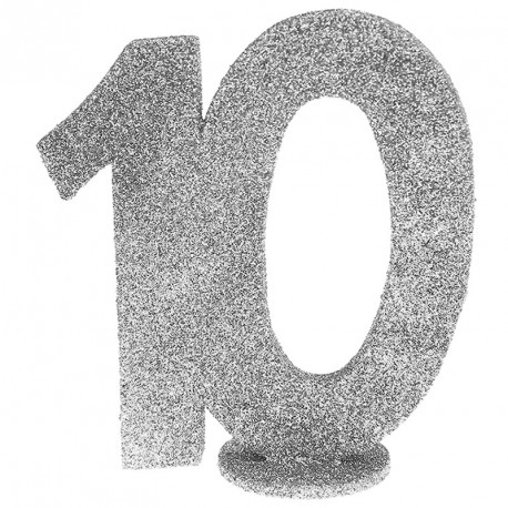 Chiffre Anniversaire 10 ans pour habiller joliment votre table d'anniversaire.