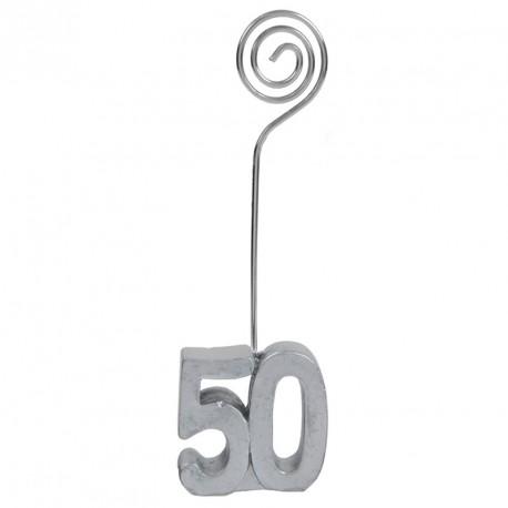 2 Marque-place Anniversaire 50 ans pour assurer une ambiance festive lors de votre anniversaire.
