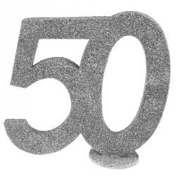 Chiffre Anniversaire 50 ans pour une décoration originale de votre lieu de réception.