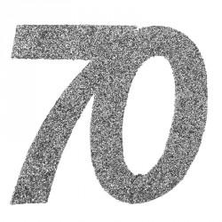 Confetti pailleté Anniversaire 70 ans pour créer une ambiance à la fois féerique et raffinée.