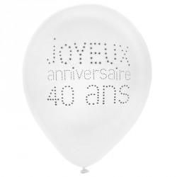 8 Ballons Anniversaire 40 ans pour fièrement faire partie des quadras.