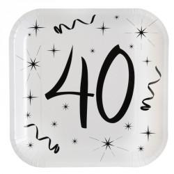 10 Assiettes Anniversaire 40 ans de qualité et au design soigné.