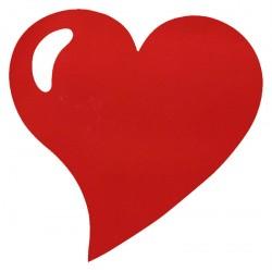 50 Sets de table cœur rouge