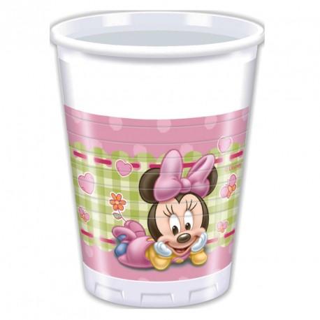 Un lot de 8 Gobelets Baby Minnie 20 cl pour servir autrement les boissons fraîches.