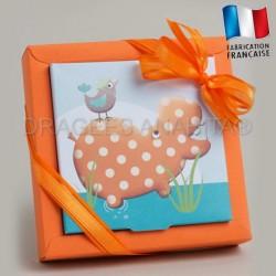 Emballage à dragées thème hippopotame