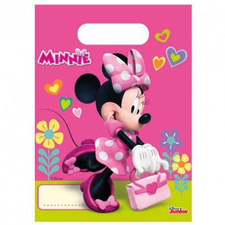 6 Sacs cadeaux Minnie très pratique pour offrir en retour des cadeaux surprises