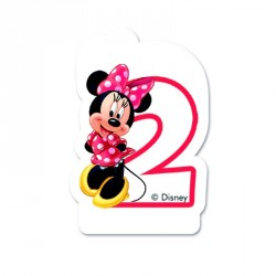 Bougie Minnie Chiffre 2 pour décorer davantage le gâteau d'anniversaire de votre fillette.