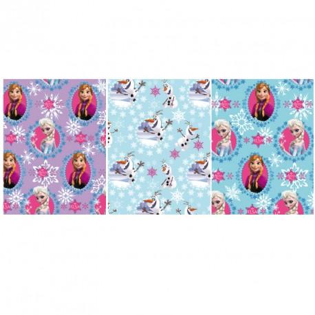 Papier Cadeaux La Reine des Neiges. 3 modèles au choix. Pour fillettes et garçons.